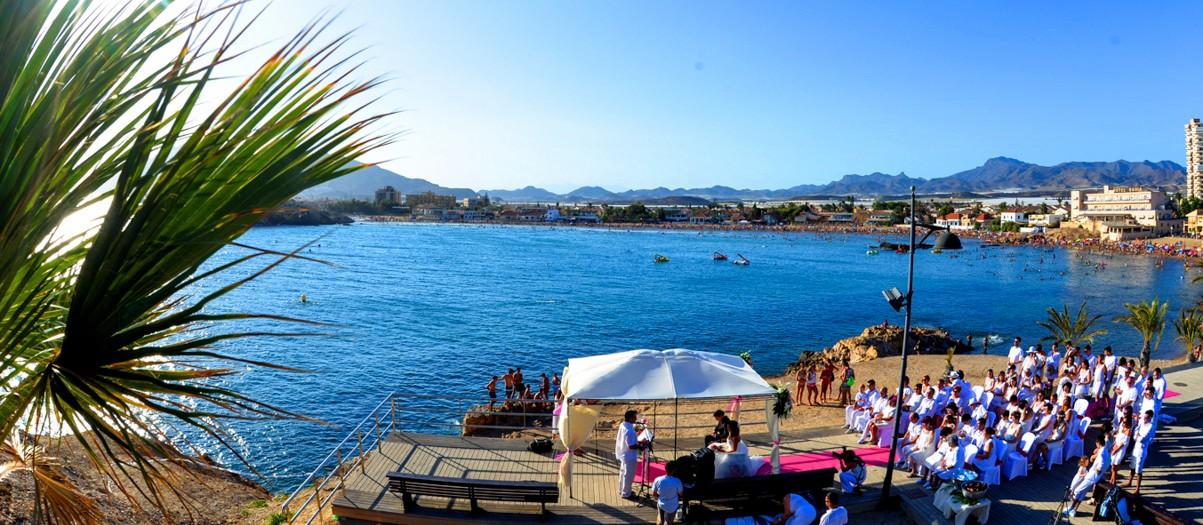 Boda en la playa de Murcia Mazarron - Itxaro y Txus
