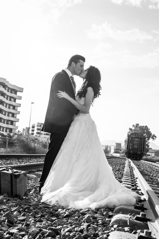 Postboda en murcia Postboda en Vias del tren Aguilas, criserfotografia