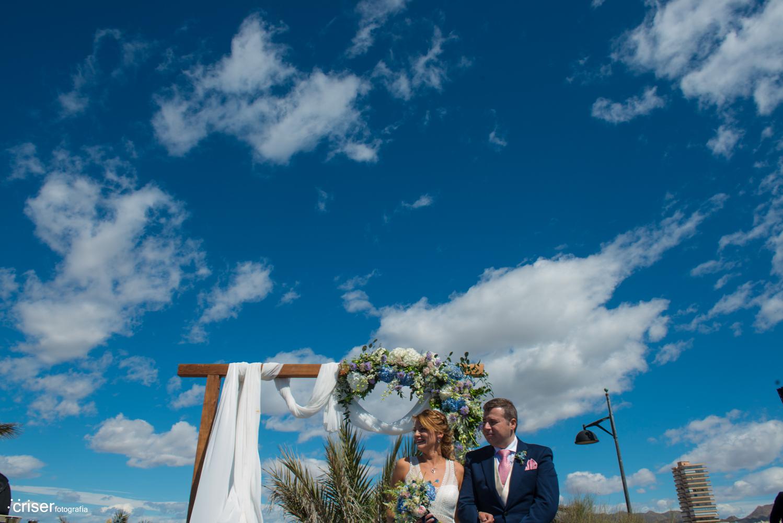 Bonita boda en la playa